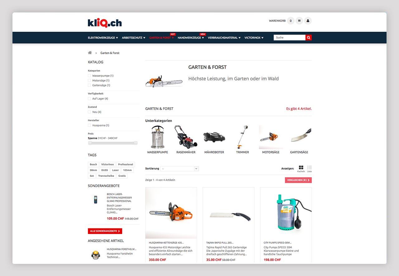 Kliq.ch Shop