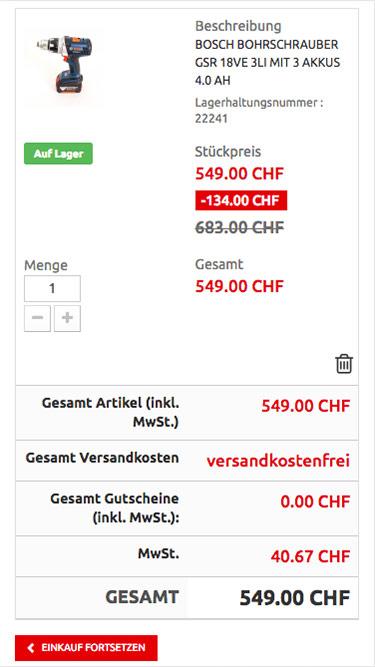 Kliq.ch Shop Responsive